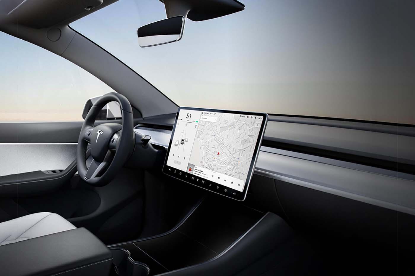Tesla Model Y design intérieur
