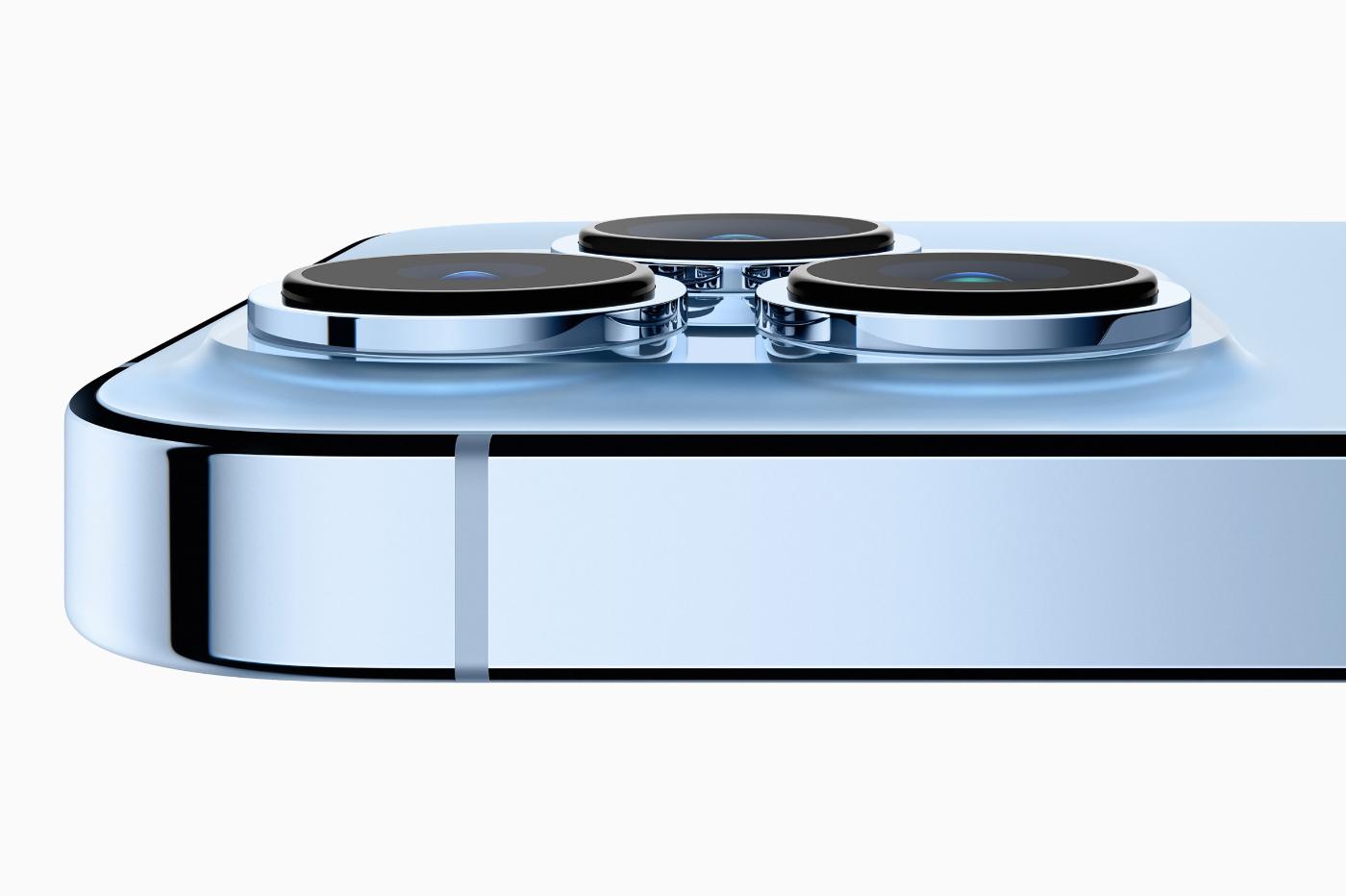 Nouveaux capteurs photo iPhone 13 Pro